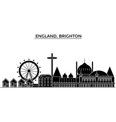 England brighton architecture city skyline vector