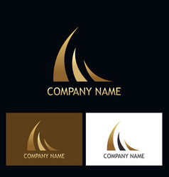 gold loop luxury company logo vector image