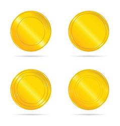 Gold seals set vector