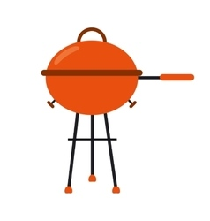 Grill barbecue kettle food camping vector