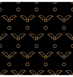 Halloween different linear seamless patterns vector image vector image