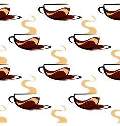 Hot seaming coffee seamless vector
