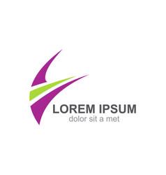 loop speed business logo vector image