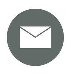 Mail or email round icon vector