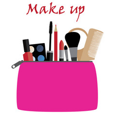 make up bag vector image