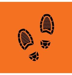 Man footprint icon vector