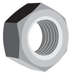 Metal screw female vector