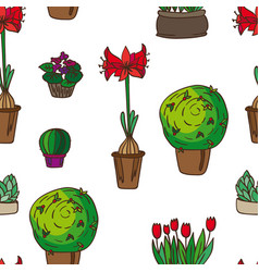 Pattern of indoor plants vector