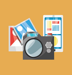 Photographic camera and smartphone vector
