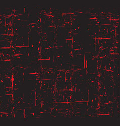 seamless red and black grunge texture with scuffs vector image
