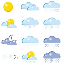 set of a weather icon vector image