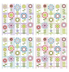 Set of floral patterns vector image vector image