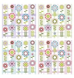 Set of floral patterns vector image