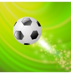 Sport Football Icon on Green Wave Background vector image vector image