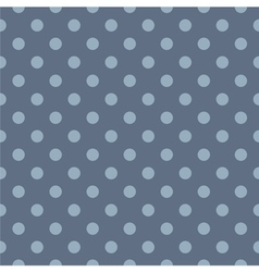 Tile blue pattern with polka dots vector image