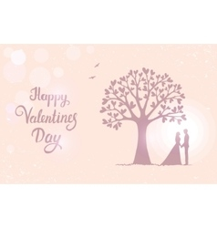 tree love with hearts vector image vector image