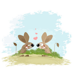 two jerboa love vector image vector image
