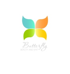 with Butterfly symbol vector image