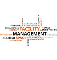 word cloud facility management vector image vector image