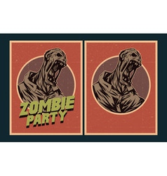Zombie party invitation vector image vector image