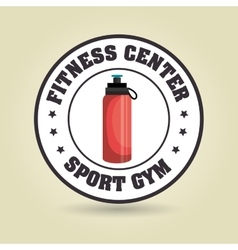 Bottle sport gym vector