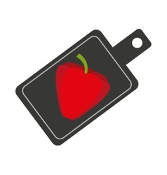 Cooking vegetarian food icon vector