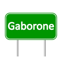 Gaborone road sign vector