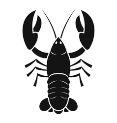 Crawfish icon simple style vector