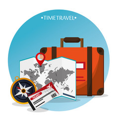 Time travel brochure tourism vector