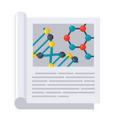 Scientific journal icon vector