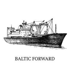 Cargo ship reefer baltic forward vector