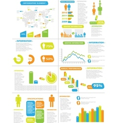Infographic demographics new style toy vector