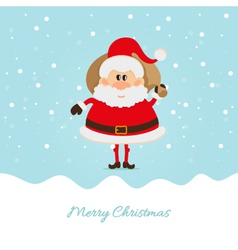 Santa claus with a bag of the christmas card vector