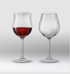 types of glasses vector image