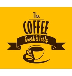 Fresh and tasty coffee banner vector