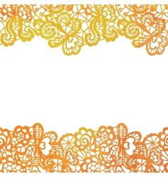 Lacy elegant border invitation card vector
