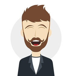 Funny laughing guy vector