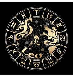 Gold sign of the zodiac vector