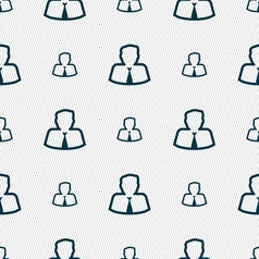 Avatar icon sign seamless pattern with geometric vector