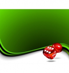 Two red dices vector