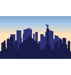 Silhouette of mexico city vector