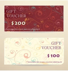 Gift voucher design vector