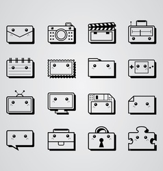 Square object icon vector
