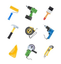 building tool icon set vector image