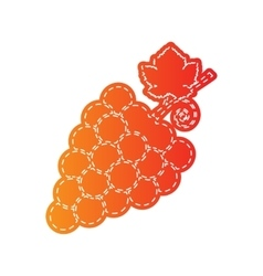 Grapes sign  orange applique isolated vector