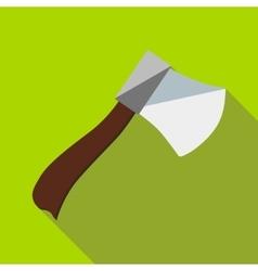 Wooden axe icon flat style vector
