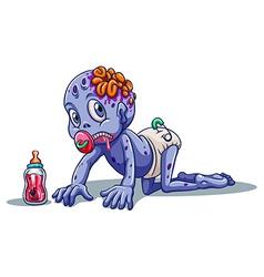 A baby zombie vector image vector image