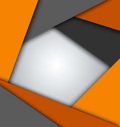 Abstract orange gray triangles background vector image