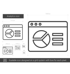 Analytics line icon vector