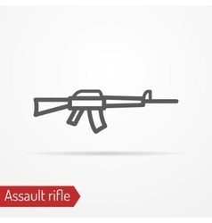 Assault rifle silhouette icon vector image